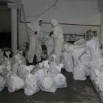 asbestos being double bagged