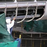 asbestos insulation removal from pedestrian bridge