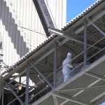 removal of asbestos at extreme heights