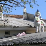 removal of roof cladding